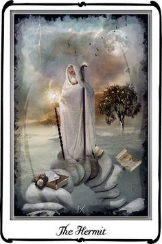 Tarot- The Hermit by `azurylipfe