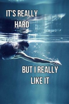 Swimming is really hard. It takes a lot of some one to be a on a swim team. But it's the best feeling in the world at the same time it hard. Swim Team Quotes, Swimmer Quotes, Swimming Memes, Swimming Tips, Swimming Funny, Competitive Swimming, Synchronized Swimming, Michael Phelps, Swimmer Problems