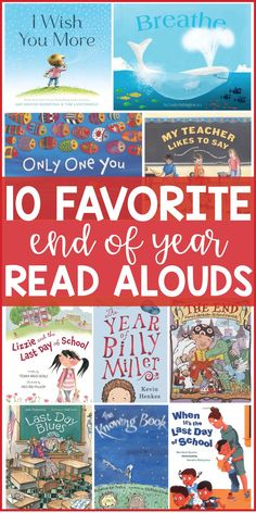Favorite End of the Year Read Alouds for your classroom. Your students will love these picture books, and all of the fun activities and discussions that accompany them! Perfect for keeping your kids engaged at the end of the year and helping them understand all of the complex emotions and feelings that come up at the end of the school year.