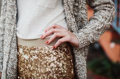 sweaters and sequins