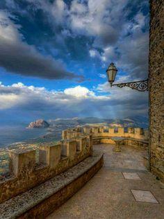 Nabila Brenda, fb Erice Castle, Sicily Italy
