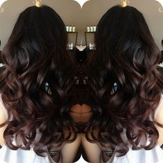 #ShareIG gorgeous ombré on darker hair #hairbylema #kuthaus text 626.617.1070 for questions or call 626.938.9116 to book an appointment :):