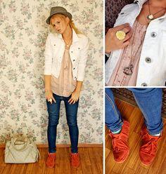 Hat, Stradivarius Jacket, Topshop Blouse, Topshop Jeans, Zara Flats, Topshop Bag