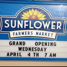 Sunflower Farmers Market opens April 4th at 7 am in Downtown Edmond