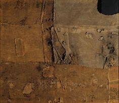 alberto burri | Alberto Burri Sacco e Verde, 1956; cm. 176×203; Sacco, tela, acrilico ...
