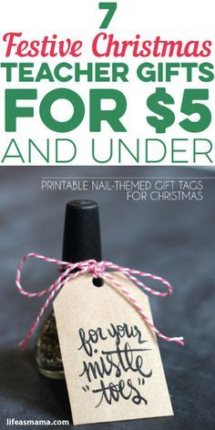 7 Festive Christmas Teacher Gifts For $5 And Under