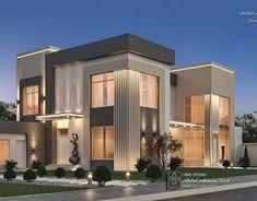 Best Modern House Design, Modern Villa Design, Modern Exterior House Designs, Bungalow House Design, Classic House Exterior, Dream House Exterior, Modern House Facades, Modern House Plans, Modern Houses