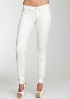 white skinny jeans  Old Navy has skinny jeans on sale for nineteen bucks.