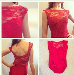 Sweetheart lace overlay leotard