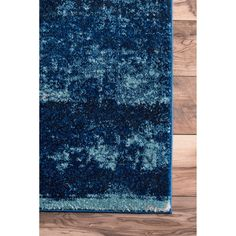 nuLOOM Traditional Overdyed Medallion Blue Rug (8' x 10') - Ships To Canada - Overstock - 20695341