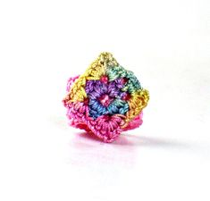 Hey, I found this really awesome Etsy listing at https://www.etsy.com/listing/72651570/crochet-ring-fiber-ring-diamond-shape