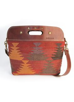 Love this Southwest Print Bag with leather accents