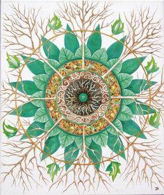 Love the tree motif in this Mandala!