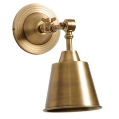 Barbara Cosgrove Library One Light Antiqued Brass Wall Sconce @LaylaGrayce