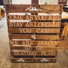 this & that Brown quote wedding sign pallet DIY