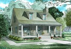 House Plan 110-00311 - Cottage Plan: 1,400 Square Feet, 2 Bedrooms, 2 Bathrooms