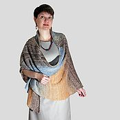 Аксессуары ручной работы. Ярмарка Мастеров - ручная работа Подарок для мамы и бабушки Лечебная вязаная шаль из собачьего пуха. Handmade.