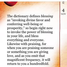 blessing ~ invoking divine favor and conferring well-being or prosperity. Bless everything and everyone in your life. ~The Secret ❤️☀️ Secret Law Of Attraction, Law Of Attraction Quotes, Secret Quotes, Law Of Attraction Affirmations, The Secret Book, Positive Affirmations, Affirmations Success, Self Help, Positive Vibes