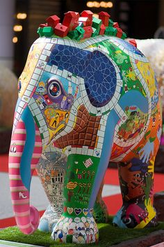 'Monopoly Community Chest' - Elephant Parade in London, England 2010;  photo by X5-452, via Flickr