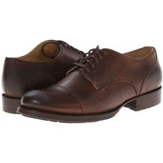Frye Erin Lug Oxford Women's Lace up casual Shoes, Brown (700 CNY) ❤ liked on Polyvore featuring shoes, oxfords, brown, oxford shoes, oxford lace up shoes, cap-toe oxford, vintage oxfords et cap toe oxford shoes
