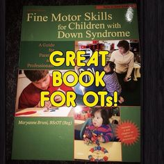 Thank you Abby of the OT Cafe Blog (http://abbypediatricot.blogspot.com/ and @abbypediatricot on IG) for reminding us of this great book we have in our clinical library and that we should share with you on Instagram!  Fine Motor Skills in Children with Down Syndrome by Maryanne Bruni, BScOT - - click on pin for more!    - Like our instagram posts?  Please follow us there at instagram.com/pediastaff