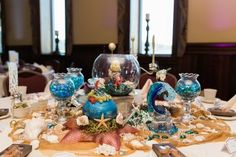 This wedding's Disney theme (with Star Wars!) is warming our cold villain hearts like a spell This Disney-themed wedding is warming our cold villain hearts like a spell Little Mermaid Centerpieces, Disney Wedding Centerpieces, Wedding Themes, Wedding Ideas, Tree Wedding, Wedding Venues, Wedding Inspiration, Wedding Card, Diy Wedding