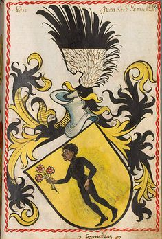 Coat of arms of the von Grumbach noble family, Scheiblersches Wappenbuch, 1450-1480