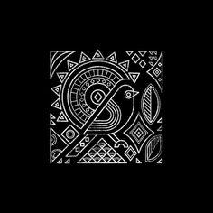 Birds on Behance - DIY Tattoo vorübergehend Madhubani Art, Madhubani Painting, Worli Painting, Fabric Painting, Tribal Art, Geometric Art, Saree Painting Designs, Line Art Projects, Indian Folk Art