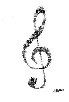 Musical Theater in word art by Julia827.deviantart.com