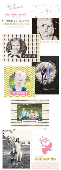 FREE!!! 2013 dear emmie christmas card Templates.