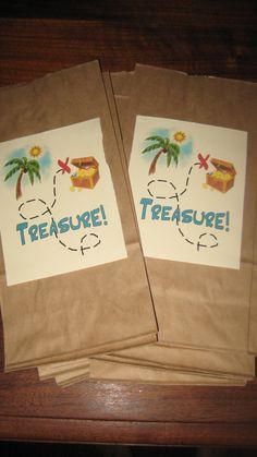 Pirate and Princess Treasure Hunt Bags