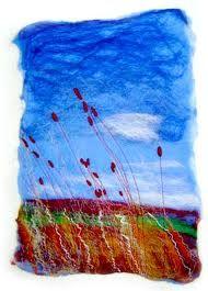 Idea for felt picture Felt Embroidery, Felt Applique, Fibre Textile, Textile Art, Nuno Felting, Needle Felting, Fabric Art, Fabric Crafts, Textiles