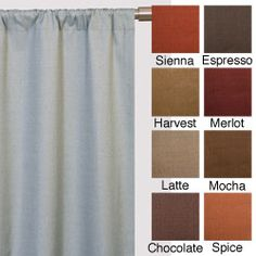 Trilogy Rod Pocket 108-inch Curtain Panel | Overstock.com Shopping - Great Deals on Curtains Like latte