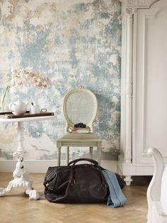 Modernes Wohnen Schönes Wanddesign Und Helle Möbelstücke