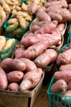 Are sweet potatoes the same as yams? Literally and botanically speaking, the two are not related. What is a sweet potato, then? Find out from The Old Farmer's Almanac. Fruit And Veg, Fruits And Vegetables, Sweet Potato Slips, Growing Sweet Potatoes, Old Farmers Almanac, Farmers Market, Farm Gardens, Yams, Growing Vegetables