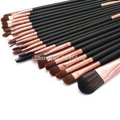 20pcs/set black wood handle makeup brushes set,best deals make up brush Maquiagem cosmetics tools kits wholesales