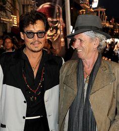 Bromance Keith. | 33 Rocking Pictures To Celebrate Keith Richards' 70th Birthday