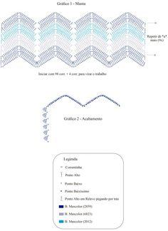 Chevron Crochet, Zig Zag Crochet Pattern, Crochet Ripple, Crochet Diagram, Afghan Crochet Patterns, Baby Blanket Crochet, Crochet Motif, Crochet Flower Tutorial, Crochet Basics