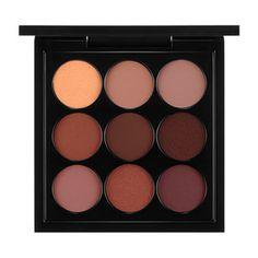 MAC Cosmetics Eyeshadow x 9: Burgundy Times Nine  Not sure if it's the lighting but the colors look way different IRL. This palette is beautiful and I truly recommend it -- value for money as well. I have always loved MAC eyeshadows - rich, pigmented and diverse!! #mac #makeup #eyeshadow