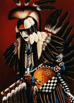 Southwest and Western Art Native American Warrior, Native American Wisdom, Native American Regalia, Native American Beauty, American Indian Art, Native American History, American Indians, Native American Moccasins, Native American Paintings