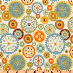 gears for a little boys flannel/chenille blanket