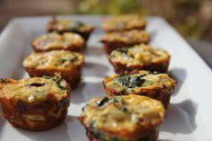 Artichoke and Spinach Mini Quiche Bites