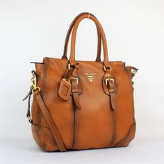 Prada Handbag genuine leather brown