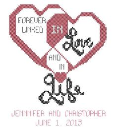 Wedding Cross Stitch Pattern  Forever by oneofakindbabydesign, $6.95