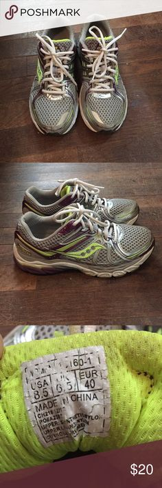 Saucony running shoes Saucony shoes with lots of life left! Comfortable! Size 8.5. Style: Pro/grid Pinnacle Saucony Shoes Athletic Shoes