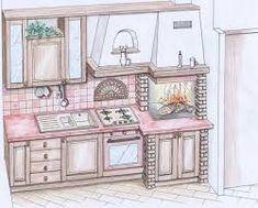 40 fantastiche immagini su Cucina in muratura | Cucina in ...
