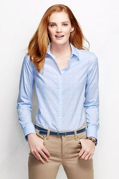 ee5c37fadf1 Women s Long Sleeve No Iron Shirt - Pattern from Lands  End