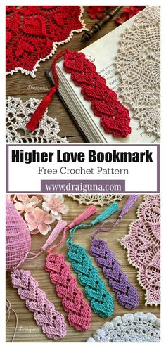 Higher Love Bookmark Free Crochet Pattern This Lovely Heart Bookmark Free Crochet Pattern will make an ideal gift for booklovers of all ages, a gift for a friend or your favourite teacher. Crochet Bookmark Pattern, Crochet Bookmarks, Crochet Motifs, Crochet Books, Thread Crochet, Love Crochet, Crochet Blanket Patterns, Crochet Gifts, Crochet Jewelry Patterns