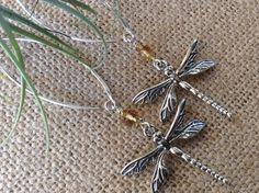 Dragonfly Gemstone Earrings Choose Citrine Peridot Ruby Healing Renewal Cleansing August Birthstone Bridesmaids Nature Love
