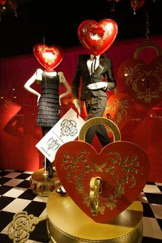 "VALENTINE STORE WINDOW IDEA Marlies Dekkers ""Secrets"" Window Display 2010 at de Bijenkorf"